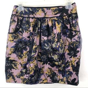ASOS Darling London Pink Floral Mini Skirt Overlay